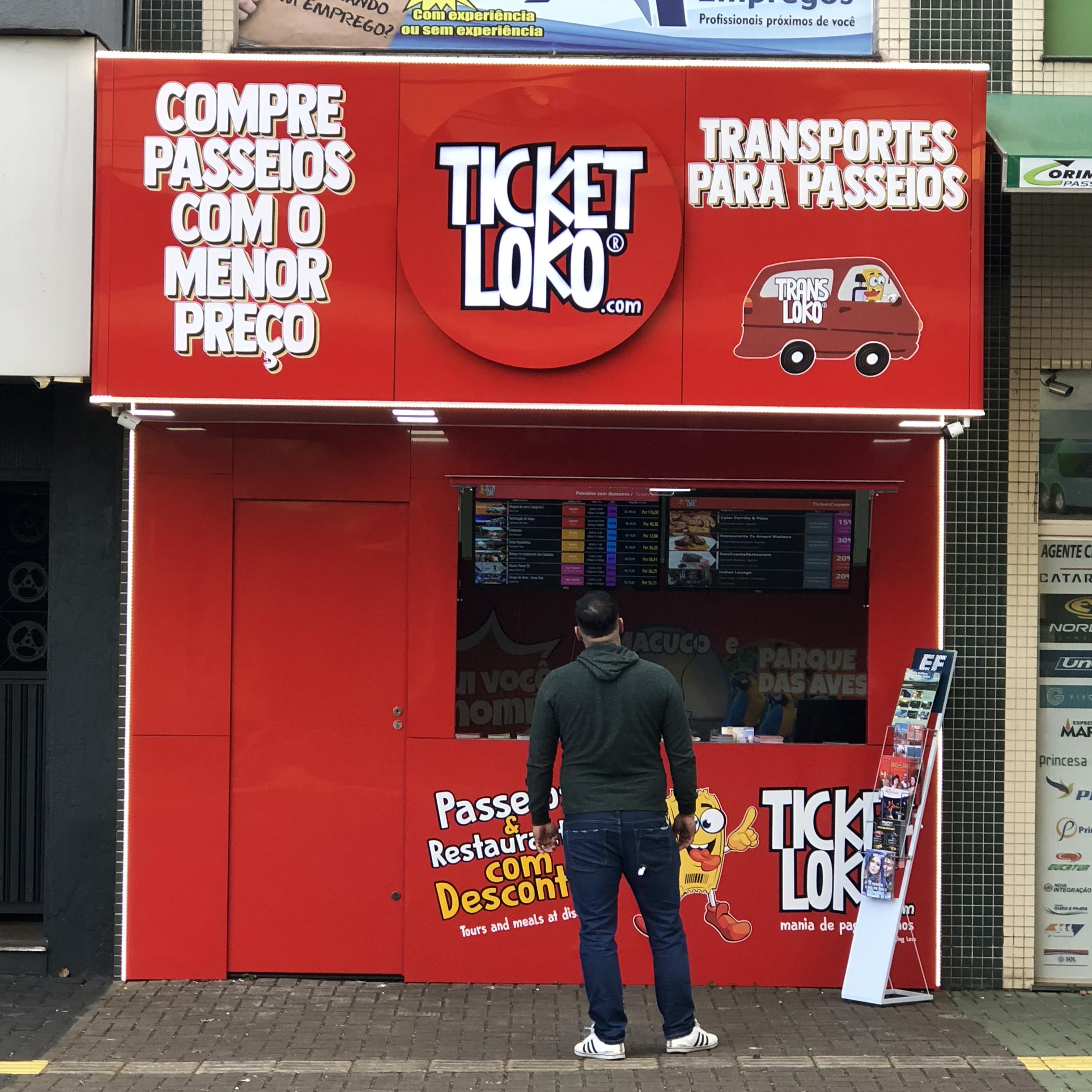 Nova unidade do Ticket Loko em Foz do Iguaçu em frente ao Hotel Golden Park Foz